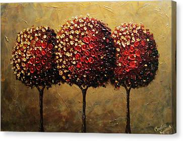 Crimson Companions Canvas Print by Christine Krainock
