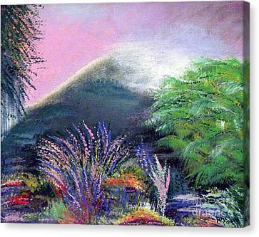 Canvas Print featuring the painting Croagh Patrick by Alys Caviness-Gober