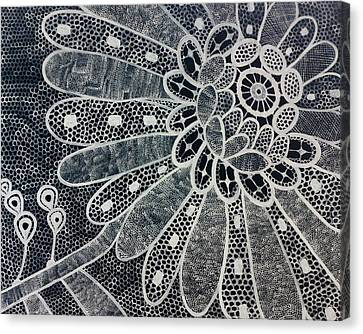 Crochet Flower Canvas Print by Salwa  Najm