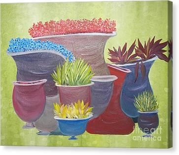 Crooked Pots Canvas Print by Rachel Carmichael