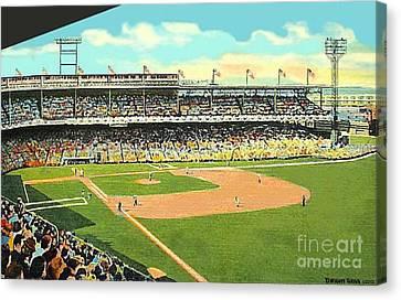 Crosley Field Baseball Stadium In Cincinnati Oh Canvas Print by Dwight Goss