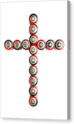 Cross Batteries 1 B Canvas Print by John Brueske