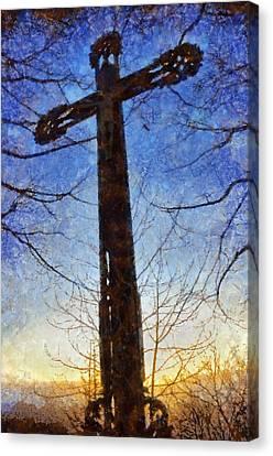 Crucifix Art Canvas Print - Cross - Crucifix by Matthias Hauser
