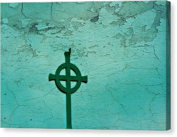 Cross Canvas Print by Debbie Sikes