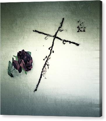 Christian Canvas Print - Cross by Joana Kruse