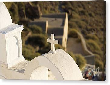 Canvas Print featuring the photograph Cross by Leslie Leda
