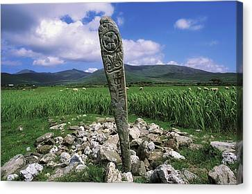 Cross Slab, Dingle Peninsula, Co Kerry Canvas Print by The Irish Image Collection