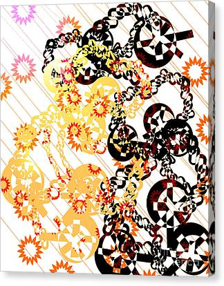 Crosses And Chains  Canvas Print by Melissa  Hardiman