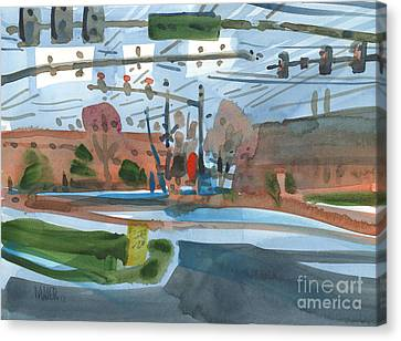 Crossing At Canton Two Canvas Print by Donald Maier