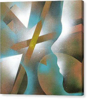 Crossing Of Minds Canvas Print by Hakon Soreide