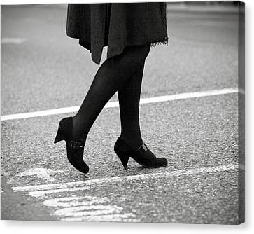 Crossing Road Canvas Print by Marcio Faustino