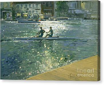 Crossing The Light Break - Henley Canvas Print by Timothy Easton