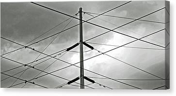 Crossing The Lines Canvas Print