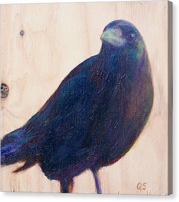 Crow Friend Canvas Print by Quin Sweetman