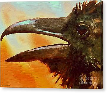 Crow Canvas Print by Jerry L Barrett