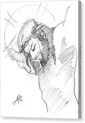 Crucifixion 3 Canvas Print by Miguel De Angel