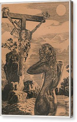 Crucifixion Canvas Print by Sirenko