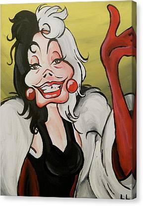 Cruella Canvas Print by Lisa Leeman