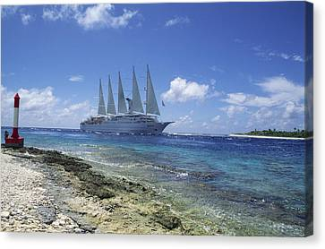 Cruise Ship Canvas Print by Alexis Rosenfeld