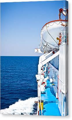 Cruise Ship Canvas Print by Tom Gowanlock