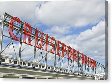 Cruiseport Boston Skyline Canvas Print by Luke Moore