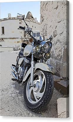 Cruiser Motor Bike Turkey Canvas Print by Kantilal Patel