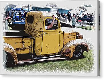 Cruising The Old Chevy Canvas Print by Steve McKinzie