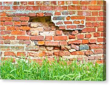Crumbling Wall Canvas Print