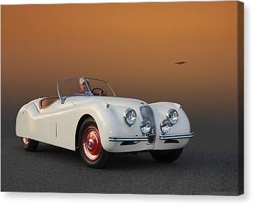 British Hot Rod Canvas Print - Cruzin' 51 Jag by Bill Dutting