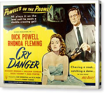 Cry Danger, Rhonda Fleming, Dick Canvas Print by Everett