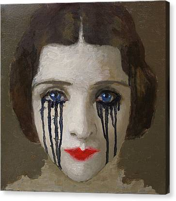 Crying Woman Canvas Print by Ilir Pojani