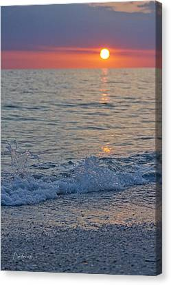 Crystal Blue Waters At Sunset In Treasure Island Florida 2 Canvas Print
