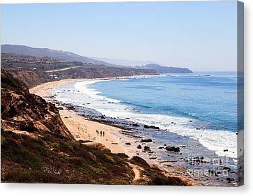 Outlook Canvas Print - Crystal Cove Orange County California by Paul Velgos