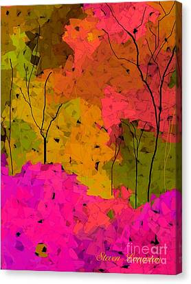Canvas Print featuring the digital art Crystal Spring by Steven Lebron Langston