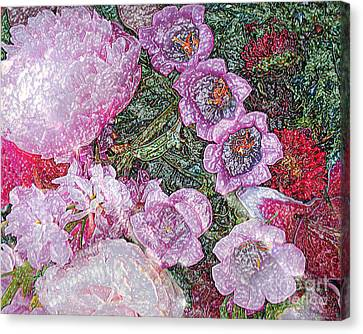 Crystallized Flowers - Digital Abstract Art Canvas Print by Merton Allen