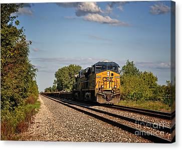 Csx Train Canvas Print - Csx Train Engine 1 by Pamela Baker