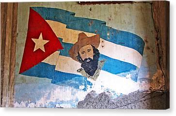 Cuban Flag Canvas Print by Kimberley Bennett