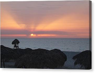 Canvas Print featuring the photograph Cuban Sunset by David Grant