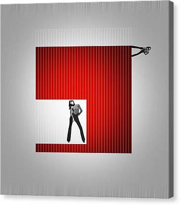 Brush Canvas Print - Cube by Naxart Studio
