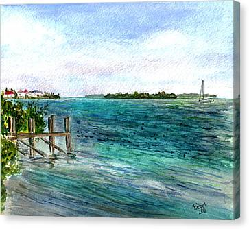 Cudjoe Bay Canvas Print