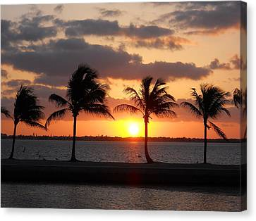 Canvas Print featuring the photograph Cudjoe Sunrise by Clara Sue Beym