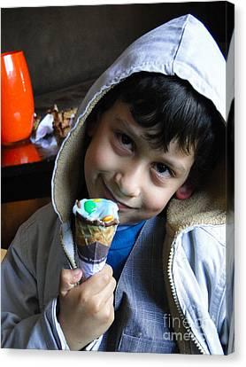 Hoodie Canvas Print - Cuenca Kids 178 by Al Bourassa