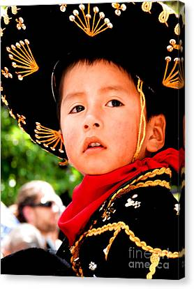 Cuenca Kids 64 Canvas Print by Al Bourassa