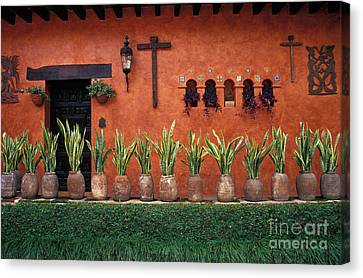 Canvas Print featuring the photograph Cuernavaca Wall Mexico by John  Mitchell