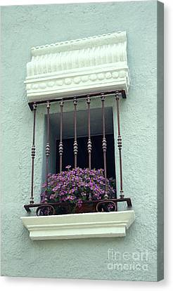 Canvas Print featuring the photograph Cuernavaca Window  Mexico by John  Mitchell