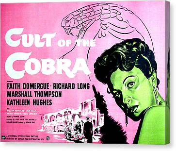 Cult Of The Cobra, Faith Domergue Canvas Print by Everett