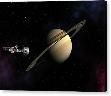 Cumberland Passing Saturn Canvas Print by David Robinson