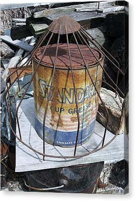 Cup Grease Canvas Print by Todd Sherlock