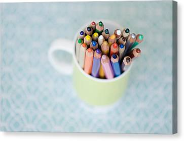 Cup Of Color Canvas Print by Andrea Janes