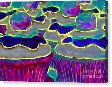 Cupcakes V2 - Painterly Canvas Print by Wingsdomain Art and Photography